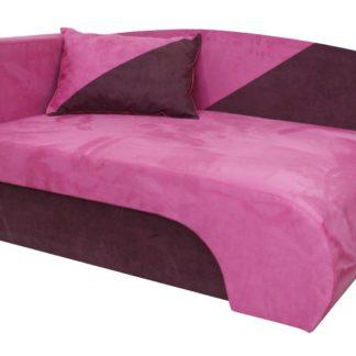 Křeslo  KAROLEK, růžová/fialová, levá