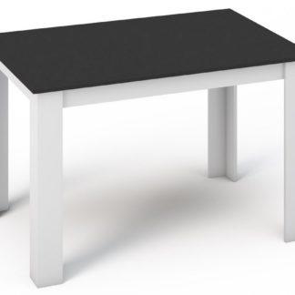 Jídelní stůl KONGO 120x80 bílá/černá
