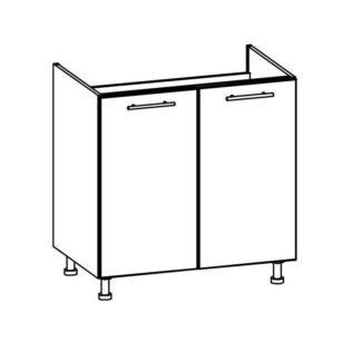 TIFFANY, dolní dřezová skříňka D80Z, bílý lesk