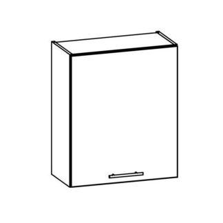 TIFFANY, horní skříňka G60, bílý lesk