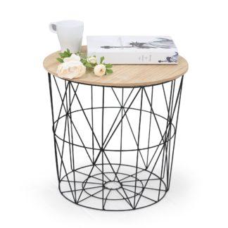 Odkládací stolek MARIFFA, přírodní/černá