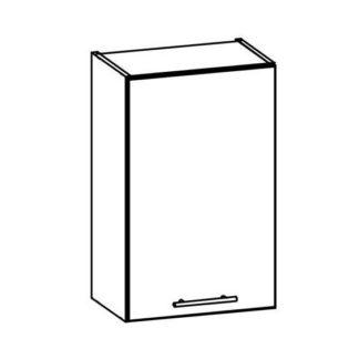 TIFFANY, horní skříňka G45, bílý lesk