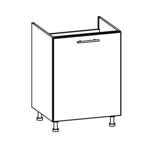 TIFFANY, dolní dřezová skříňka D60Z, bílý lesk