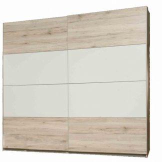 VALERIE, skříň VALS824E1, dub pískový/bílá