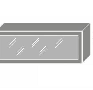 PLATINUM, skříňka horní prosklená W4bs 90 ALU, korpus: lava