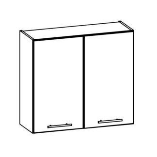 TIFFANY, horní skříňka G80, bílý lesk