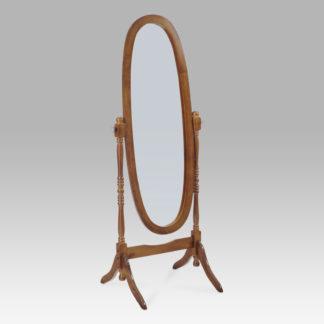 Výklopné oválné zrcadlo 20124 WAL, tmavě hnědé