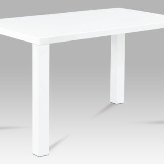 Jídelní stůl AT-3006 WT 120x80 cm, vysoký lesk bílý