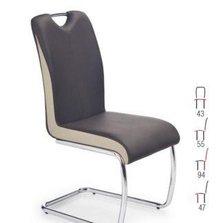 Židle K-184, tmavě hnědá/champagne