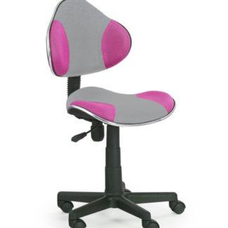 Dětská židle FLASH-2, šedá/růžová