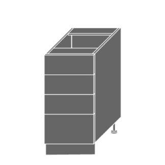 EMPORIUM, skříňka dolní D4m 40, korpus: lava, barva: light grey stone
