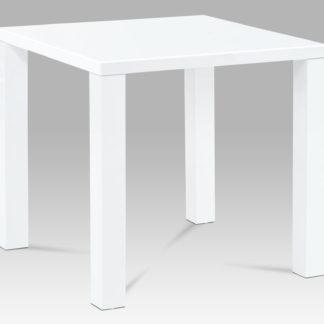 Jídelní stůl AT-3005 WT 80x80 cm, vysoký lesk bílý