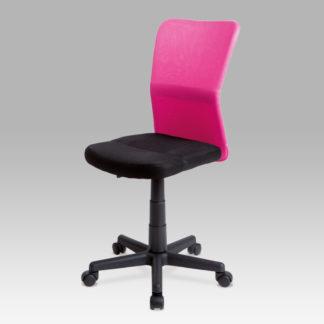 Dětská židle BORIS, černá / růžová