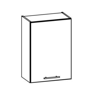 TIFFANY, horní skříňka G50, bílý lesk