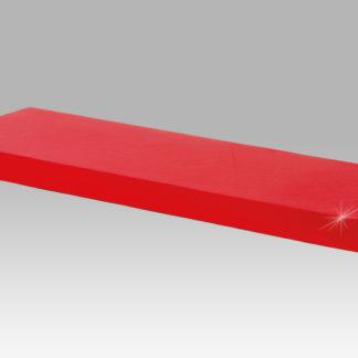 Nástěnná polička 60 cm  P-001 RED, červený lesk