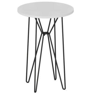 RUBEN odkládací stolek, bílá/černá