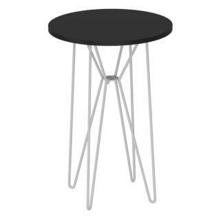 RUBEN odkládací stolek, černý dub/bílý kov