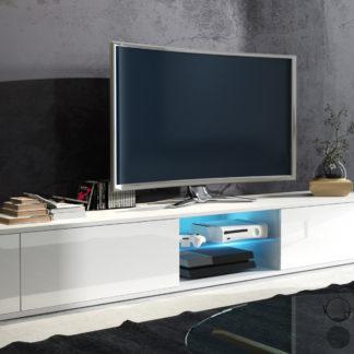 TV stolek HIT, bílá/bílý lesk