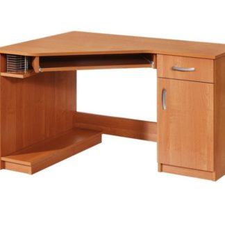 PC stůl CARMEN, pravý, barva: olše