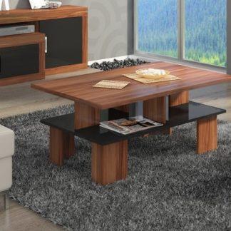 Konferenční stolek SUPRA 2, švestka wallis/černý lesk