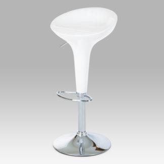 Barová židle bílá/plast chrom AUB-9002 WT