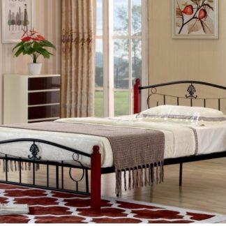 MAGENTA kovová postel s roštem 140x200 cm, dub