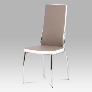 Jídelní židle AC-1693 LAN, koženka lanýž/bílá