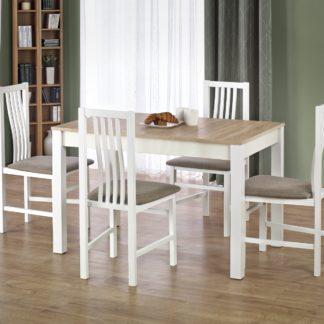 Jídelní stůl KSAWERY, dub sonoma/bílá