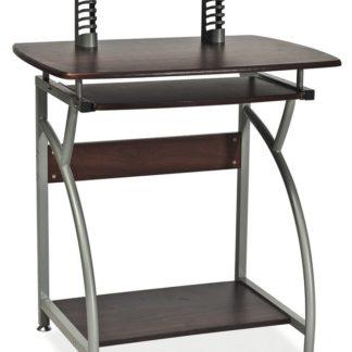 PC stůl B-07, tmavě hnědá/kov