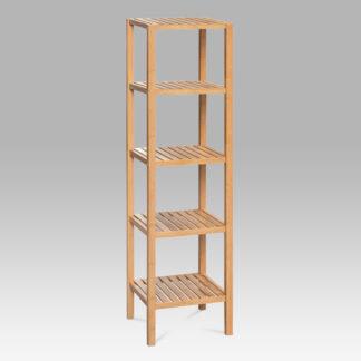 Regál DR-011-3, 5 polic, lakovaný bambus