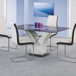 Jídelní stůl VESPER, černobílý