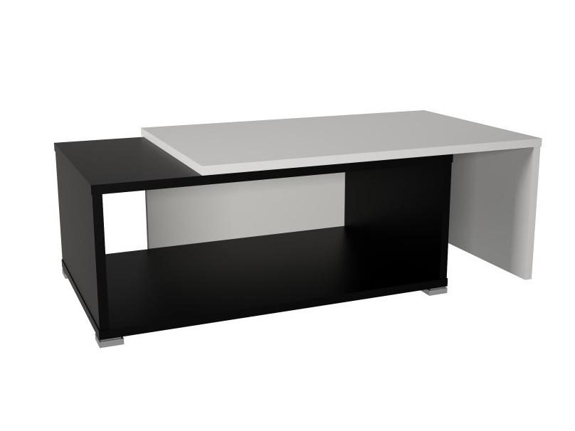 DRON konferenční rozkládací stolek, bílá/černá
