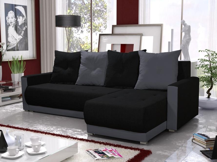 Rohová sedačka INSIGNIA BIS 12, černá/šedá