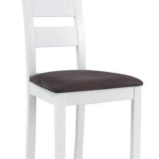 Jídelní čalouněná židle CB-44, bílá/šedá