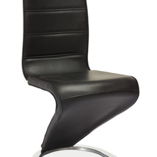 Jídelní čalouněná židle H-134, černá/bílá
