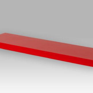 Nástěnná polička P-005 RED, 80cm, barva červená - vysoký lesk