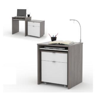 NU psací stůl UNO, avola/bílá