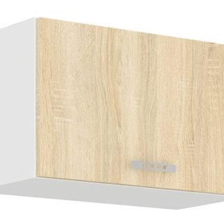 SARA SONOMA, skříňka horní 60 OK-40, bílá/dub sonoma