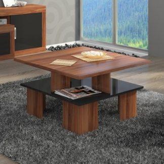 Konferenční stolek SUPRA 1, švestka wallis/černý lesk