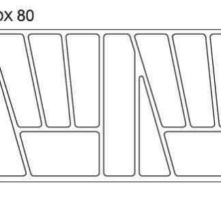 Pořadač do zásuvek SAMBOX, 80 cm