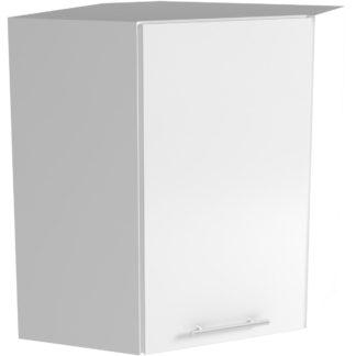 Horní rohová skříňka VENTO GN-60/72, dvířka: bílý lesk