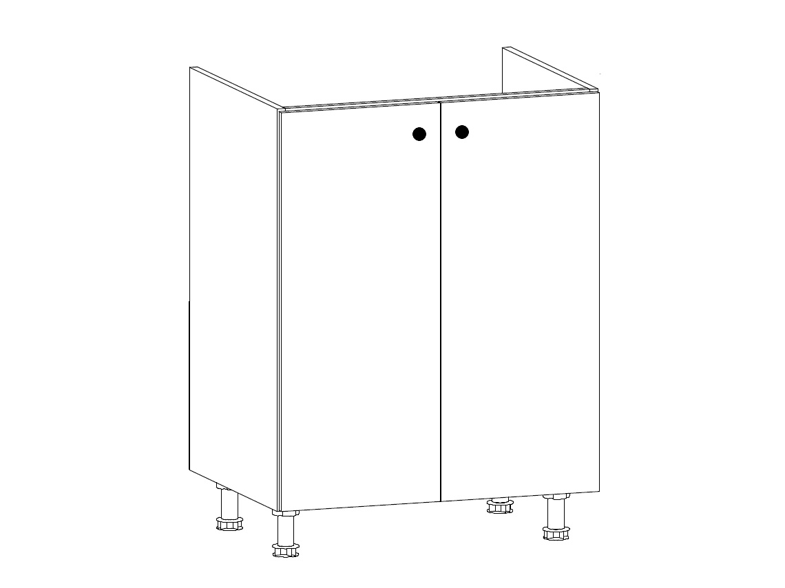 PROWANSJA dolní dřezová skříňka D60Z 2D, borovice andersen