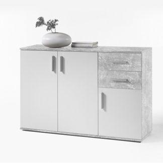 POPPY 2 komoda, bílá / beton