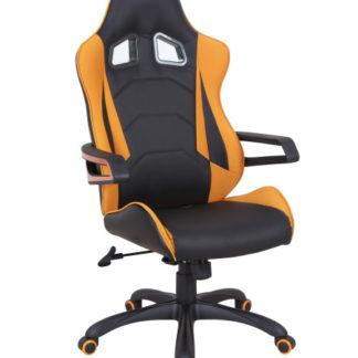 Kancelářské křeslo MUSTANG, černá/oranžová