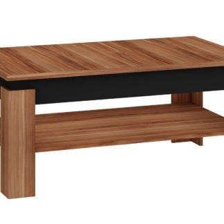 Konferenční rozkládací stolek BOSTON, švestka wallis/černý lesk