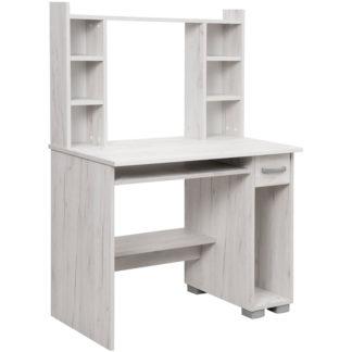 PC stůl s nástavcem DIONIS, dub sněhový