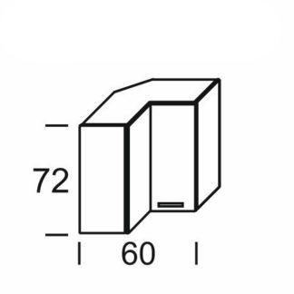 KAMDUO, horní skříňka roh. DUO WRP6, dub sonoma