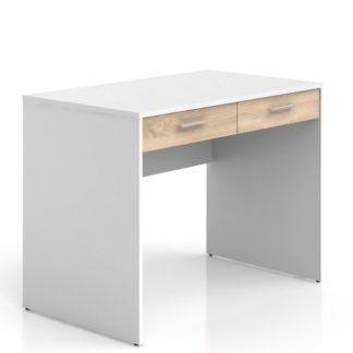 Psací stůl se šuplíky NEPO, BIU2S, bílá/dub sonoma