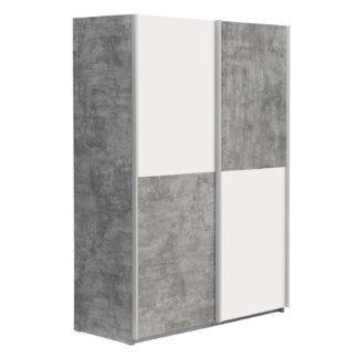 Skříň LUPO OHS822X1, beton/bílá