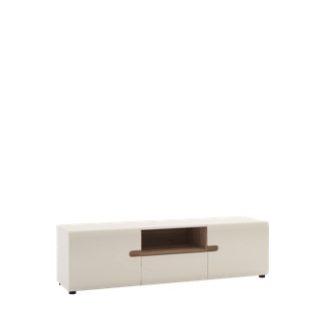 LINATE/50, RTV stolek 2D1S, alpská bílá/trufla